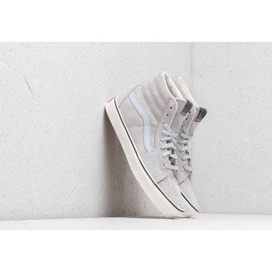 Vans Sk8- Hi (Hairy Seude) Gray Dawn/ Snow White productafbeelding