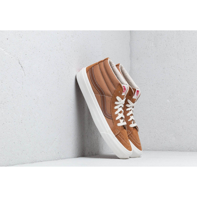 Vans OG Sk8-Mid LX (Seude/ Canvas) Tobacco Brown productafbeelding