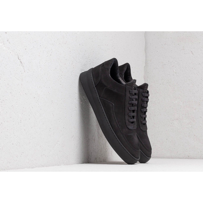 Filling Pieces Low Mondo Plain Nardo Nubuck All Black productafbeelding