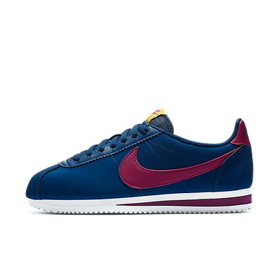 Nike Wmns Classic Cortez Leather Blue Void/ True Berry-Dark Citron-White productafbeelding