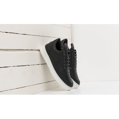 Filling Pieces Low Top Ripple Lane Nappa Black productafbeelding