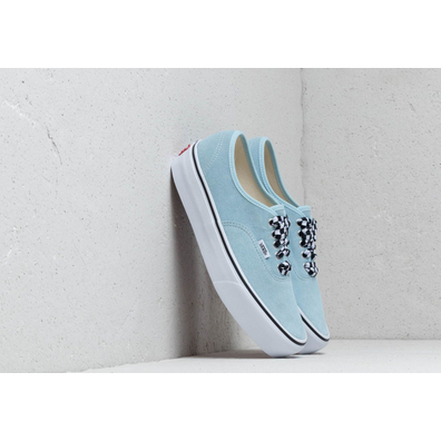 Vans Authentic Platform (Checkerboard lace) Cool Blue productafbeelding