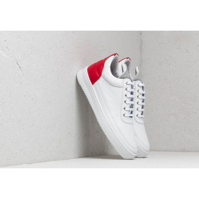 Filling Pieces Low Top Ripple Hades White/ Red productafbeelding