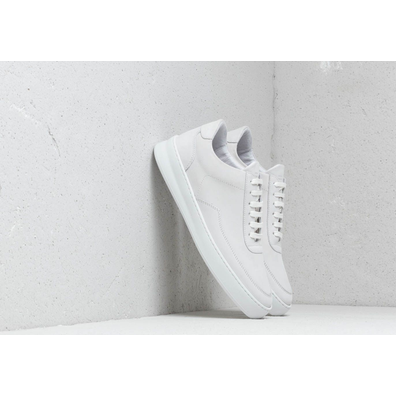 Filling Pieces Low Mondo Plain Nardo Nubuck White productafbeelding