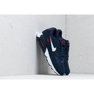 Nike Air Max 90 Mesh (GS) Midnight Navy/ White-University Red productafbeelding