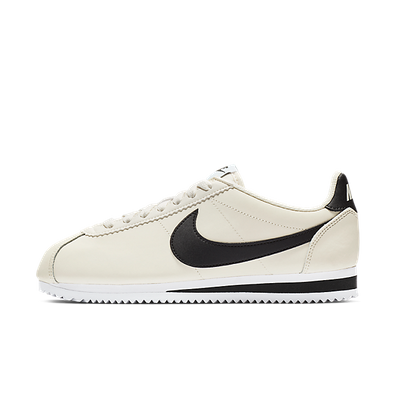 Nike Wmns Classic Cortez Leather Pale Ivory/ Black-Aluminum-White productafbeelding