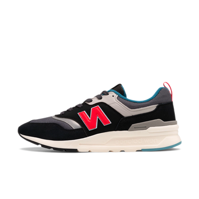 New Balance 997 Black/ Red/ Grey/ White productafbeelding