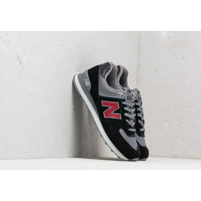 New Balance 574 Black/ Grey/ Red productafbeelding