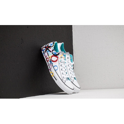 Converse Chuck Taylor All Star Ox White/ Hyper Magenta/ Black productafbeelding