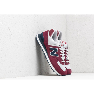 New Balance 574 Burgundy/ Navy/ White productafbeelding