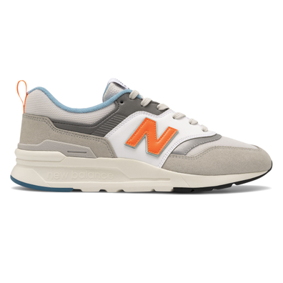 New Balance 997 White/ Orange/ Grey productafbeelding