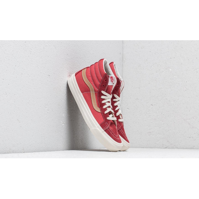 Vans OG SK8-Hi LX (Suede/ Canvas) Sun-Dried Tomato/ Red Mineral productafbeelding