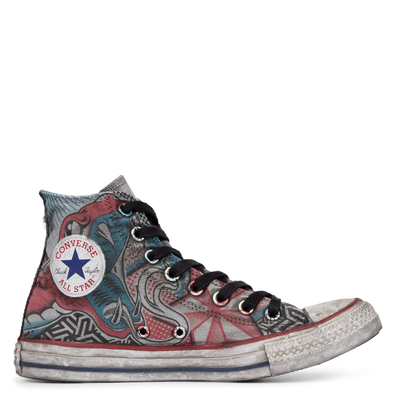 Chuck Taylor All Star Canvas Snake Tattoo High Top productafbeelding