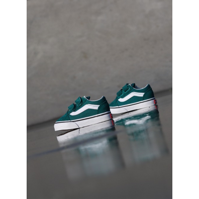 Vans Old skool Green/White TS productafbeelding