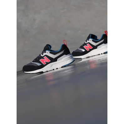 New Balance 997 Black/Red  PS productafbeelding