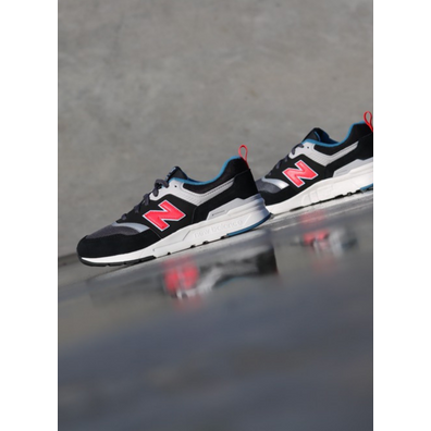 New Balance 997 Black/Red GS productafbeelding