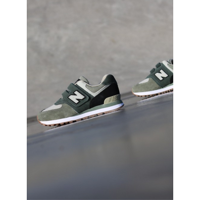New Balance 574 Army/Green PS productafbeelding