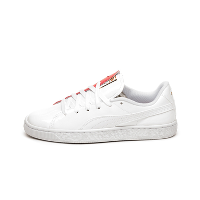 Puma Basket Crush (Puma White - Hibiscus) productafbeelding
