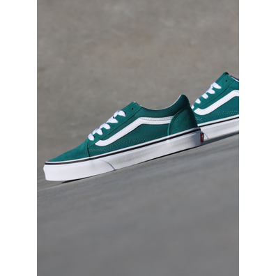 Vans Old skool Green/White GS productafbeelding