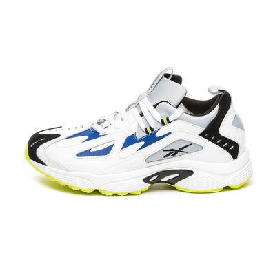 Reebok DMX Series 1200 LT (White / Cloud Grey / Blue Move / Neon Lime productafbeelding