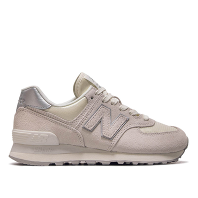 New Balance Wmn WL574 SSS Beige Silver productafbeelding