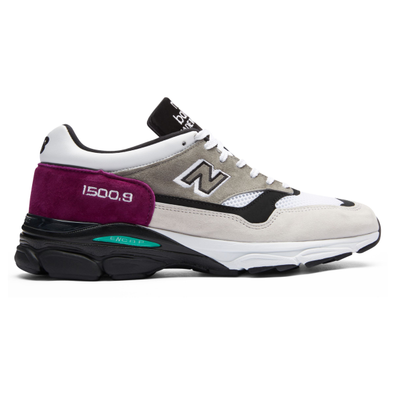 New Balance M15009EC *Made in England* (White / Burgundy / Black) productafbeelding