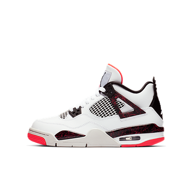 Nike Air Jordan 4 Retro (GS) *Bright Crimson* (White / Black - Bright productafbeelding