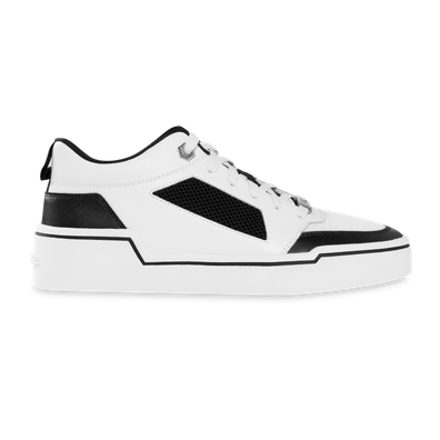 BALR. Mesh Panelled Low-Top Sneakers - White / Black productafbeelding