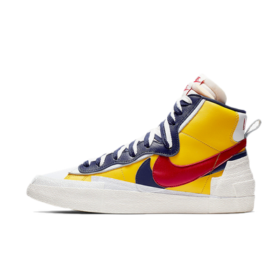 Sacai X Nike Blazer High 'Varsity Maize' productafbeelding