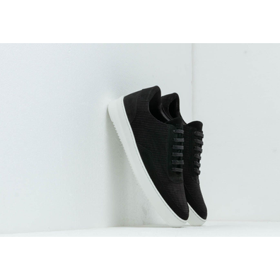 Filling Pieces Low Mondo Ripple Corduroy Black productafbeelding