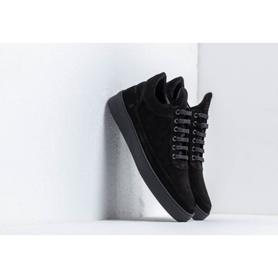 Filling Pieces Low Top Plain Cape Suede All Black productafbeelding