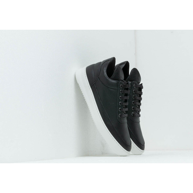 Filling Pieces Low Top Ripple Nappa Perforated Black productafbeelding