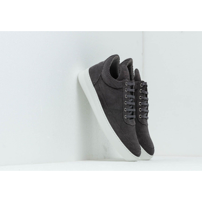 Filling Pieces Low Top Plain Corduroy Grey productafbeelding