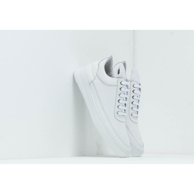 Filling Pieces Low Top Ripple Nappa Perforated All White productafbeelding