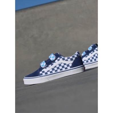Vans Old skool Checker/Navy Velcro GS productafbeelding