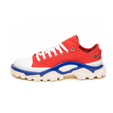 adidas x Raf Simons Detroit Runner (Red / Silver Metallic / Bold Blue) productafbeelding