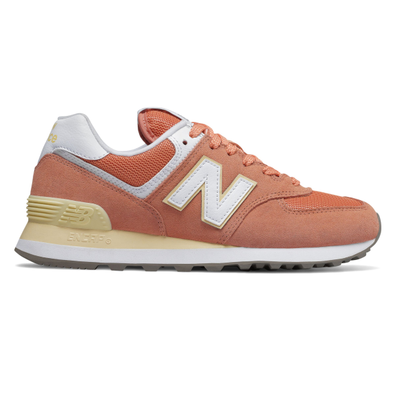 New Balance 574 Orange/ White productafbeelding
