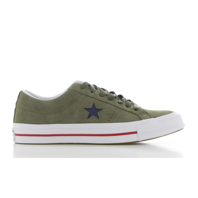 Converse One Star Groen/Wit Heren productafbeelding
