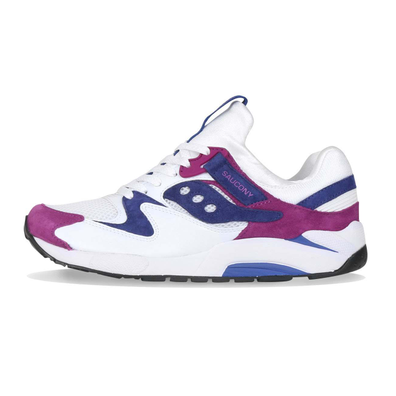 Saucony Grid 9000 White / Purple productafbeelding