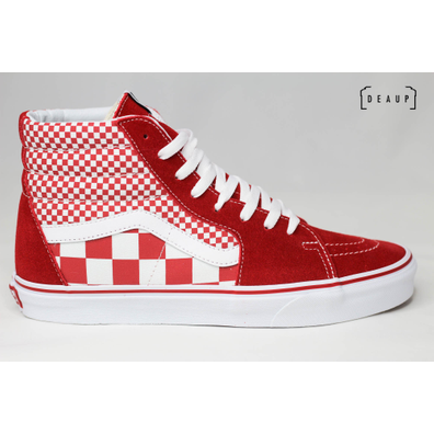 Vans Sk8-Hi 'Mix Checker Chili Pepper' productafbeelding