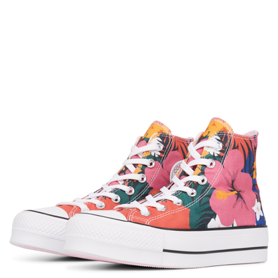 Chuck Taylor All Star Paradise Prints Lift High Top productafbeelding