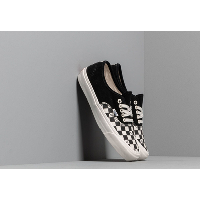 Vans OG Authentic LX (Suede/ Canvas) Black/ Checkerboard productafbeelding