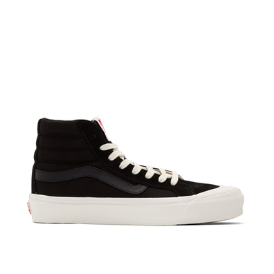 Vans OG Style 138 LX (Suede/ Canvas) Black/ Checkerboard productafbeelding