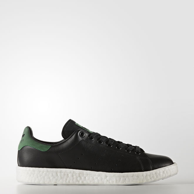 adidas Stan Smith Boost (Core Black / Core Black / Green) productafbeelding