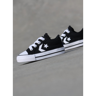 Converse Star player Ox Black/White TS productafbeelding