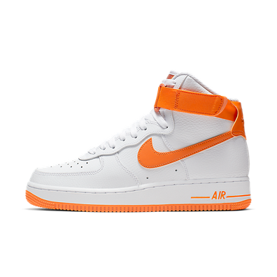 Nike Wmns Air Force 1 High (White / Orange Peel - Campfire Orange) productafbeelding
