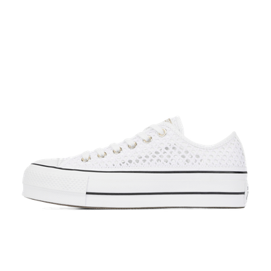 Chuck Taylor All Star Crochet Lift Low 'White' productafbeelding