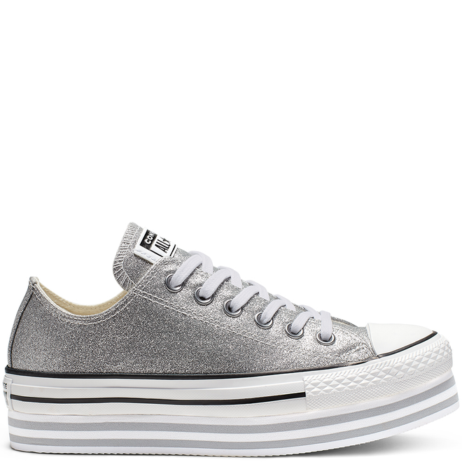 Chuck Taylor All Star Shiny Metal Lift Low Top 564878C