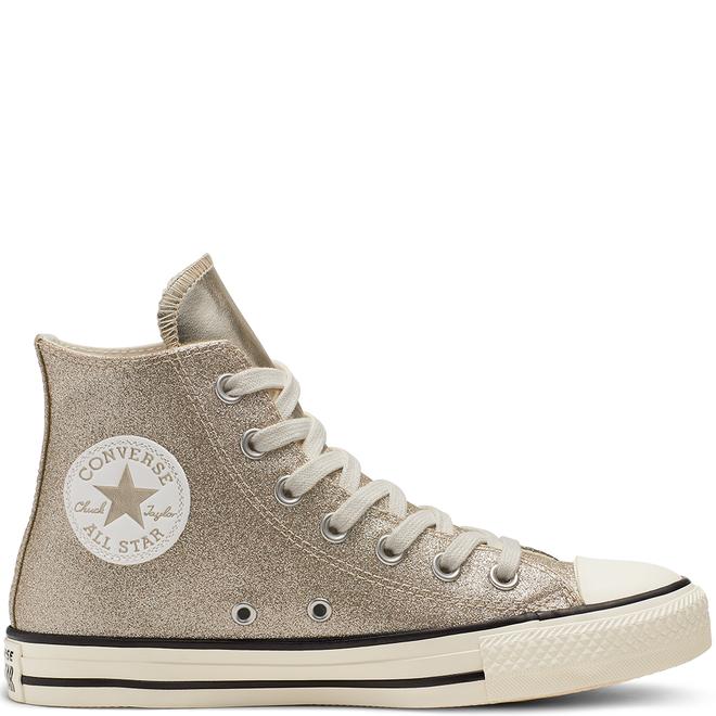 Converse Chuck Taylor All Star Shiny Metal High Top Gold 564851C
