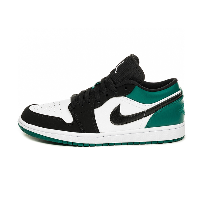 Nike Air Jordan 1 Low (White / Black - Mystic Green)